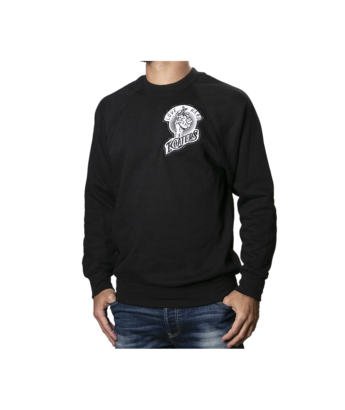 Sudadera LOVE HARD - negro